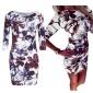 欧美风中袖速卖通ebay热卖外贸货源印花修身连衣裙 跑量价 8966