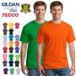 GILDAN76000T恤杰丹吉��丹�棉�V告衫文化衫批�l定制工作服印字