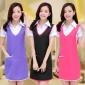 时尚韩版无袖围裙工作服美容师美甲店工作服餐厅 酒店服务员围裙