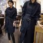 2016秋季新品女装大衣 韩版修身系带收腰显瘦气质中长款风衣外套