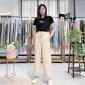 秋季新款宽松百搭女式牛仔裤 品牌折扣女装批发货源