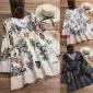 5XL女装上衣和衬衫复古花卉长袖衬衫